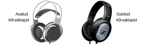 Avatud ja suletud süsteemis kõrvaklappide erinevused