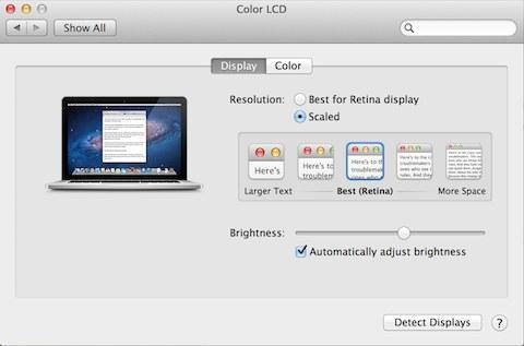 MacBook Pro with Retina Display ekraaniseaded