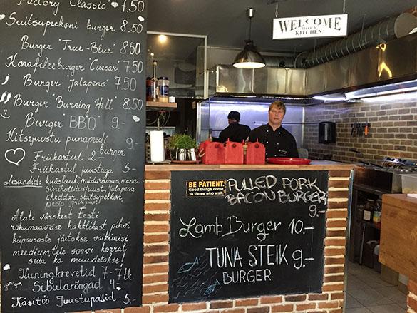 Estonian Burger Factory menüü ja omanik