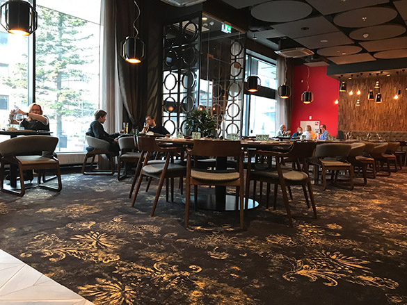 Joyce restoran Tartu V Spa sisekujundus