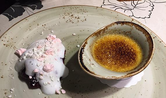 Restoran kohvik Piparmünt Pärnus magustoit dessert kreembrülee