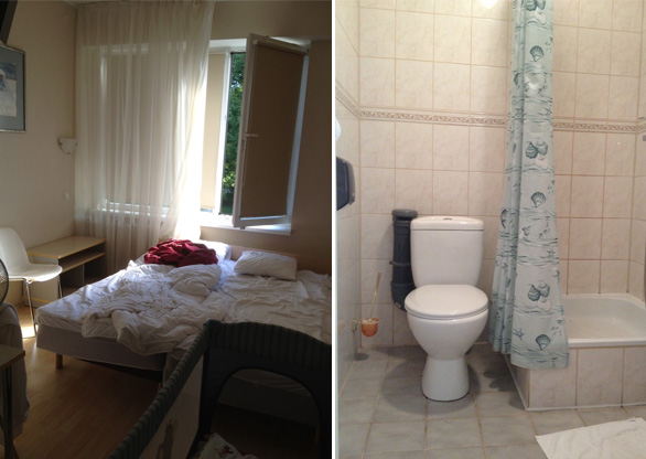 Hotell-hostel Starest, soodne ööbimiskoht Tartus, tuba ja vannituba
