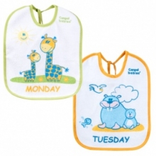 Cotton terry bib 7 pcs