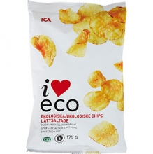 I Love Eco Ekologiska Chips Saltade