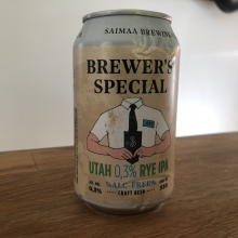 Saimaa Brewing Co Brewer's Special Utah 0,3% Rye IPA